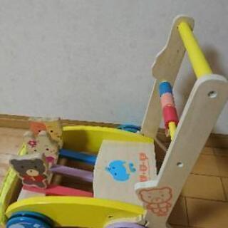 手押し車 カタカタ『ミテミテ』木製押し車