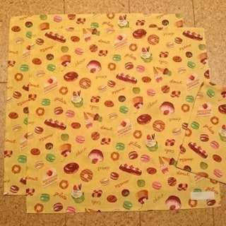 ハンドメイド 小学生用ランチョンマット&給食袋セット(スイーツ)