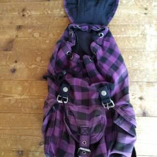 かわいい布製リュックサック(紫)を無償で譲ります。