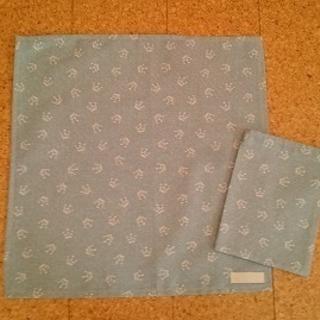 ハンドメイド 小学生用ランチョンマット&給食袋セット(クラウンS)