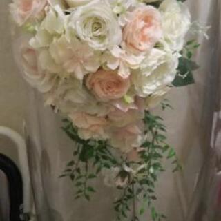 【造花】ウェディングブーケと髪飾りセット