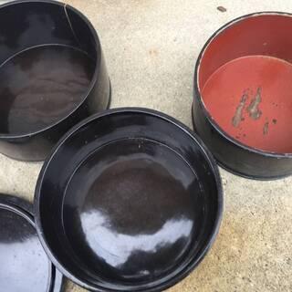 ▲【引取り限定】レトロ 重箱  明治時代 漆器 本漆器  弁当箱...