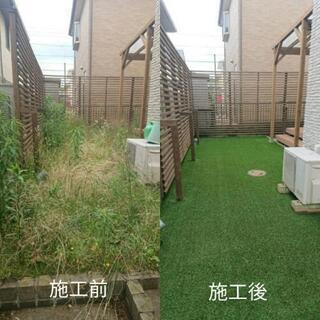 お庭のリフォーム(雑草対策編)外構リフォームもお任せください。