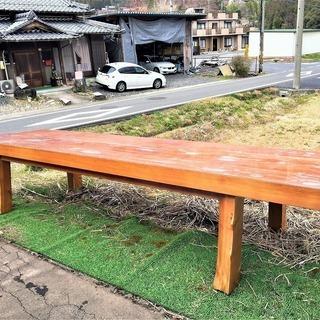 【恵那・ひまつぶし堂】『超』大型テーブル ヒノキ/無垢材 全長4...