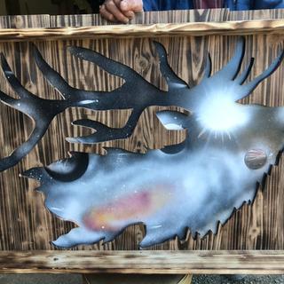 木工アート トナカイ