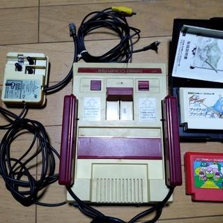ファミリーコンピューター 初期型 ソフト2本 ジャンク