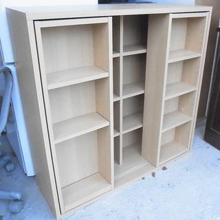 受取者確定  スライド棚付き 本棚 文庫本棚 飾り棚 収納棚