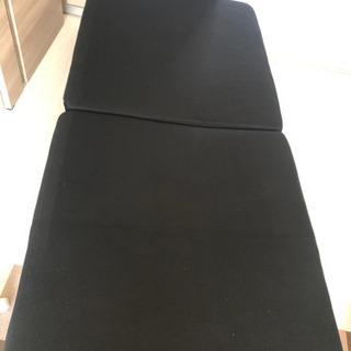 低反発マットレス折りたたみパイプベッド(シングル)