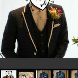 タキシード 新郎 結婚式 ネイビータキシード スーツ ジャケット