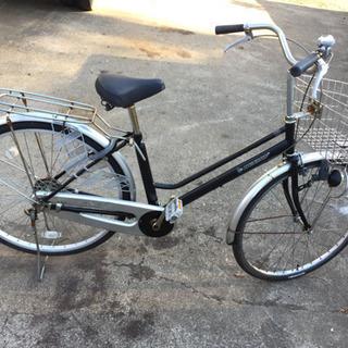 ダンロップ 26インチ 鍵付 ブラック 中古自転車