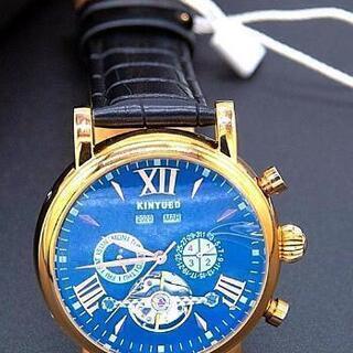 キヌエド トゥールビヨン機械式腕時計