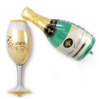 巨大 シャンパン グラス バルーン セット パーティー 結婚式
