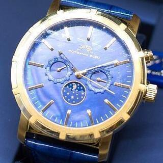 ポルサモブルー ムーンフェイズ 機械式腕時計