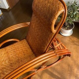 籐製アームチェア - 家具