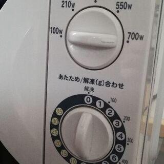 700w 電子レンジ haier ターンテーブル 50hz - 八戸市
