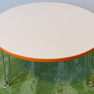 【中古】折りたたみ丸テーブル 直径約60cm/高さ約29.5cm...