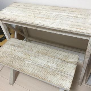 テーブルとイス/白木風【取りに来てくださる方限定】