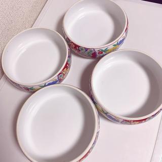 〈中古〉  丸皿 4枚セット