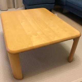天然木ローテーブル(折りたたみ可)