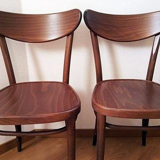 最後2点につき値引 北欧チェコ製家具 TONの椅子2点セット 木...