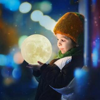 3Dムーンライト ランプ 月 インテリア ルームランプ 照明 癒...