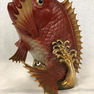 珍品 希少 レア 鯛の置物 タイ オブジェ たい 真鍮 大型