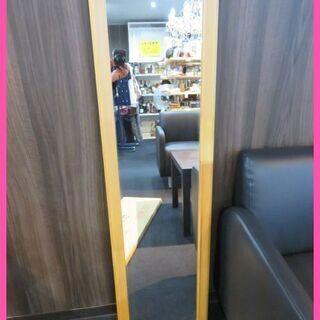 箱付未使用品の木製枠の姿見ミラーをお安くお譲りいたします!