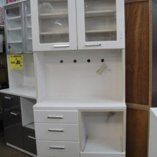 キッチンボード エナメル塗装仕上げ レンジボード 食器棚 キッチ...