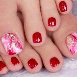 【Foot】親指2本アート ¥4500(税込)
