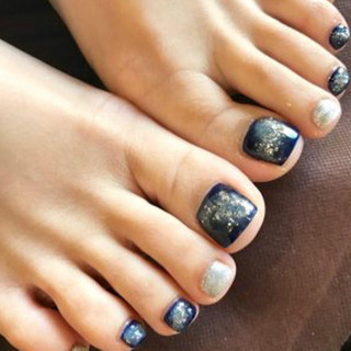 【Foot】デザイン4本アート  ¥5000(税込)