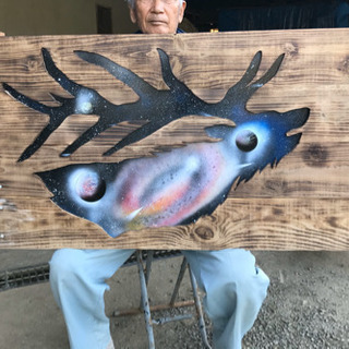 木工アート〈トナカイ〉