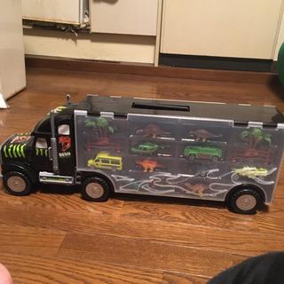 トレーラー型ケース付き 恐竜 フィギュア セット 子供 おもちゃ...
