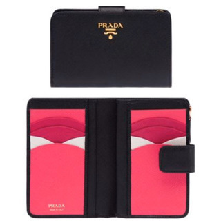 PRADA バイカラー 折り財布【最終値下げです。】