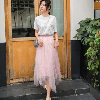 ロングスカート 可愛い free size 02