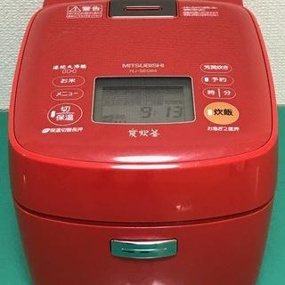 三菱電機 炊飯器 炭炊釜 NJ-SE064-D スカーレット 炊...