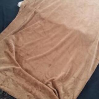 シングル用 ベッドカバー ブラウン 起毛素材
