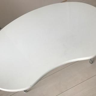 ホワイト ローテーブル 折りたたみ