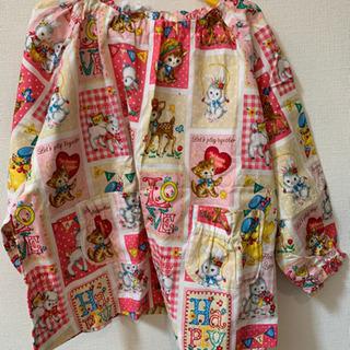 【手作り未使用】長袖スモック(120くらい)巾着袋付き