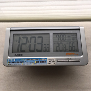 CASIO 電波時計 温湿度計