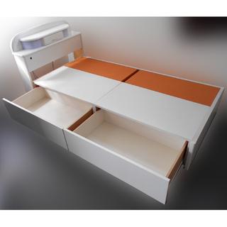 ♪マルミツ シングルベッド 床下収納/小物入れ/ランプ付♪