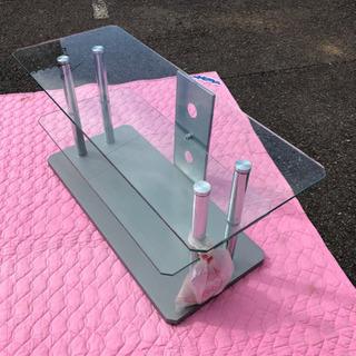 ガラス2段 テレビ台 強化ガラスでとてもしっかりしてます。