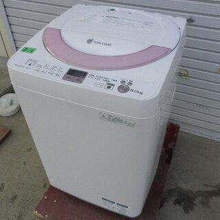 シャープ全自動電気洗濯機 ES-GE60N 6㎏ 2013年 無...