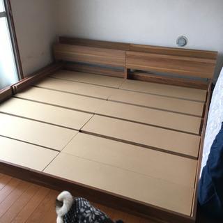 【親子3人で寝れます】シングルベッド連結フレーム2つ