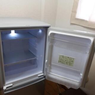 シャープ SHARP 2ドア ノンフロン冷凍冷蔵庫 137L SJ-D14C-S 2016年製 つけかえどっちもドア 冷蔵庫  137L SJ-D14C-S     − 愛知県