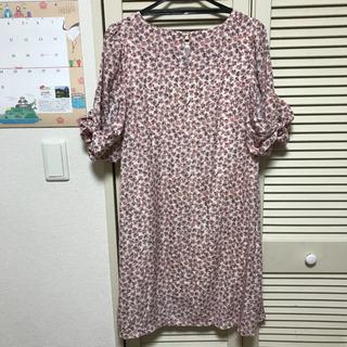 RAY CASSIN ワンピース フリーサイズ ピンク 花柄 リボン袖