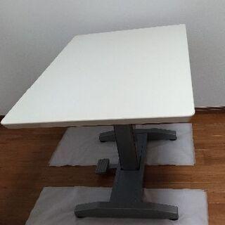 高さ調節出来るテーブル白