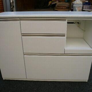 キッチンカウンター 食器棚 ニトリ カウンター アルミナ2 120cm