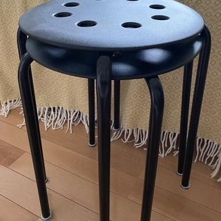 スツール(黒 x 2)/IKEA(イケア)