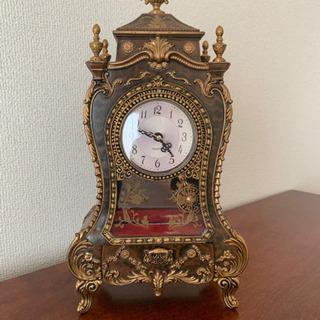 *美品*アンティーク風オルゴール付時計
