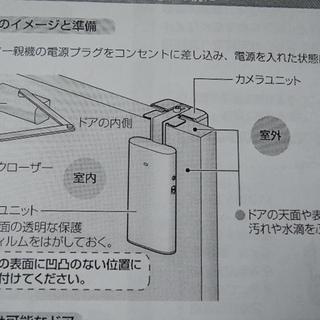 中古動作品 ワイヤレスドアモニター VL-SDM100 - 家電